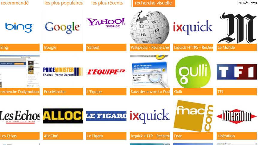 moteur de recherche d'internet explorer