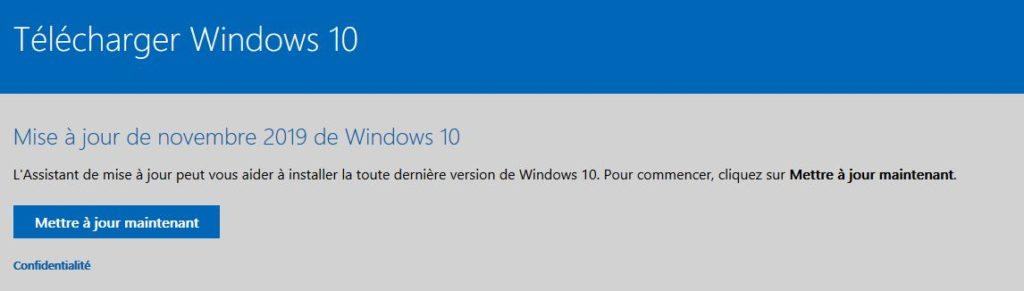 Mise à jour online depuis le site de Microsoft