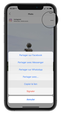 enregitrer photo instagram sur android